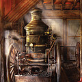 Fireman - Steam Powered Water Pump Print by Mike Savad