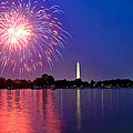 Fireworks Across The Potomac by Steven Barrows