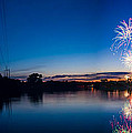 Fireworks Over The Fox  by Lorraine Mahoney