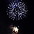 Fireworks Shell Burst over the St Petersburg Pier Print by Jay Droggitis