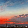 First Inaugural Sunrise from Lee - Custis Mansion Print by William Van Doren