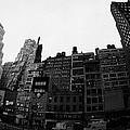 Fisheye View Of 34th Street From 1 Penn Plaza New York City Usa by Joe Fox