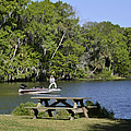 Fishing At Ponce De Leon Springs Fl by Christine Till