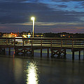 Fishing At Soundside Park In Surf City by Mike McGlothlen