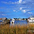 Fishing Boats At Dock Ocracoke Island by Thomas R Fletcher