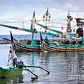 Fishing Boats In Bali by Louise Heusinkveld