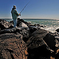 Fishing Off The Jetty by Paul Ward