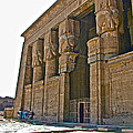 Five Thousand Year Old Temple Of Hathor In Dendera- Egypt by Ruth Hager
