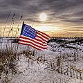 Flag On The Beach by Michael Thomas