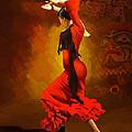 Flamenco Dancer 0013 by Catf