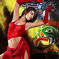Flamenco Dancer 010 by Catf