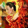 Flamenco Dancer 027 by Catf