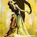 Flamenco Dancer 031 Print by Catf