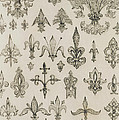 Fleur De Lys Designs From Every Age And From All Around The World by Jean Francois Albanis de Beaumont
