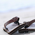 Flip-flops On Beach by Elena Elisseeva