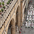 Florence and Piazza della Signoria Print by Melany Sarafis