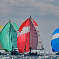 Florida Spinnakers Print by Steven Lapkin
