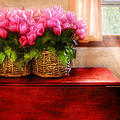 Flower - Tulips By A Window by Mike Savad