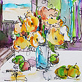 Flowers And Green Apples by Becky Kim