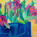 Flowers And Leaves by Diane Fine