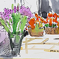 Flowers In Pots by Becky Kim