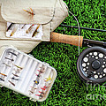 Fly Fishing Rod And Asessories by Sandra Cunningham