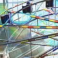 Flying Inside Ferris Wheel by Luther   Fine Art