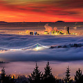 Fog Inversion Over Vancouver by Alexis Birkill