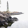 Foggy Day On Lake Superior by Sandra Updyke
