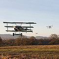 Fokker DR1 - Day's End Print by Pat Speirs