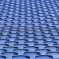 Folding Plastic Blue Seats by Dutourdumonde Photography