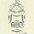 Football Helmet 1929 Patent Art by Prior Art Design
