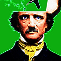 Forevermore - Edgar Allan Poe - Green - With Text by Wingsdomain Art and Photography