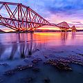 Forth Rail Bridge Stunning Sunrise by John Farnan