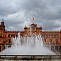 Fountain On Plaza De Espana. Seville by Jenny Rainbow
