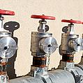 Four Emergency Water Valves by Trever Miller