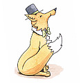 Fox In Top Hat by Christy Beckwith