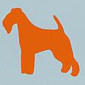 Fox Terrier Orange Print by Naxart Studio