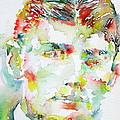 Franz Kafka Watercolor Portrait.2 by Fabrizio Cassetta