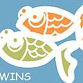 Fraternal Twins - Baby Room Art by Nursery Art