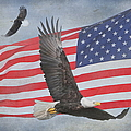 Freedom Flight Print by Angie Vogel