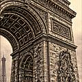 French - Arc De Triomphe And Eiffel Tower IIi by Lee Dos Santos