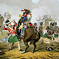 French Cuirassiers At The Battle Print by John Augustus Atkinson