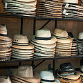 French Market Hats Print by Brenda Bryant