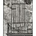 French Quarter Balcony In Black And White by Brenda Bryant