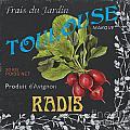 French Veggie Labels 3 by Debbie DeWitt