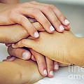 Friends Hands Print by Carlos Caetano