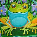 Frog on a lily pad Print by Nick Gustafson
