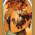 Fruit by Alphonse Maria Mucha