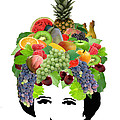 Fruit Lady Print by Jennifer Schwab